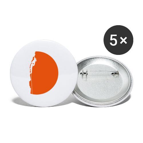 Klettererin Pullover & Hoodies - Buttons groß 56 mm (5er Pack)