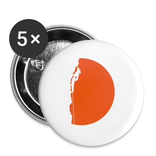 Klettererin Pullover & Hoodies - Buttons groß 56 mm