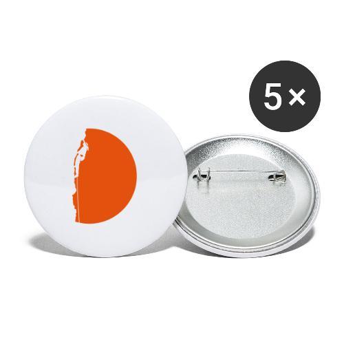 Klettererin Pullover & Hoodies - Buttons mittel 32 mm (5er Pack)