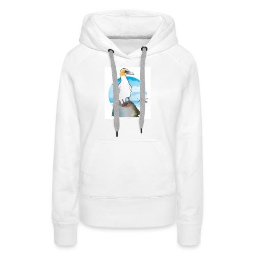 Fou de Bassan - Sweat-shirt à capuche Premium pour femmes