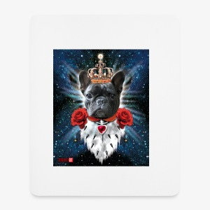 French Bulldog Französische Bulldogge King iPhone Case - Mousepad (Hochformat)