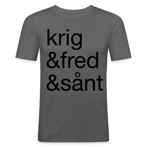 krig&fred&sånt - Slim Fit T-skjorte for menn