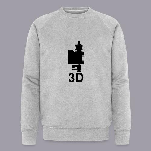 3D Druckkopf in schwarz - Männer Bio-Sweatshirt von Stanley & Stella