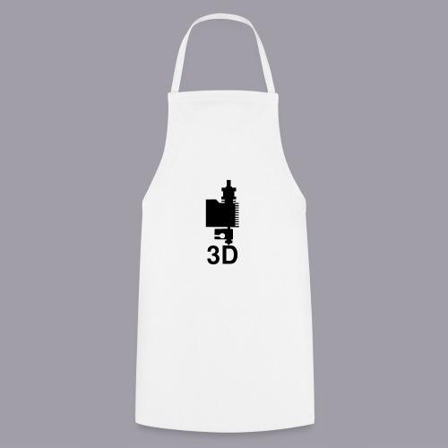 3D Druckkopf in schwarz - Kochschürze