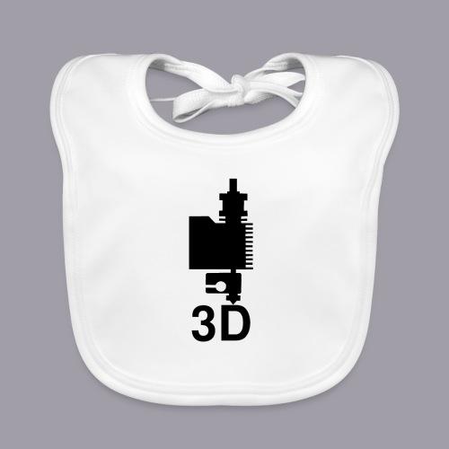 3D Druckkopf in schwarz - Baby Bio-Lätzchen