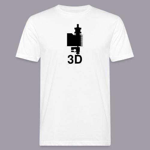 3D Druckkopf in schwarz - Männer Bio-T-Shirt