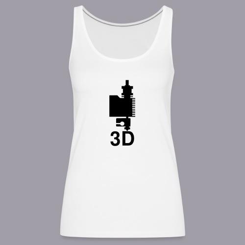 3D Druckkopf in schwarz - Frauen Premium Tank Top