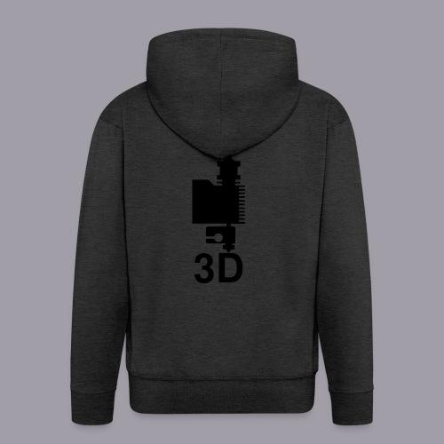 3D Druckkopf in schwarz - Männer Premium Kapuzenjacke