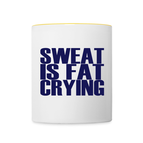 Sweat is fat crying - Tasse zweifarbig