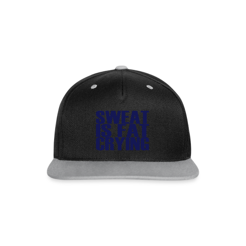 Sweat is fat crying - Kontrast Snapback Cap