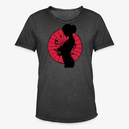 Geisha - sexy Frauen Silhouette T-Shirts - Männer Vintage T-Shirt