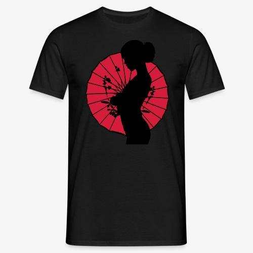 Geisha - sexy Frauen Silhouette T-Shirts - Männer T-Shirt