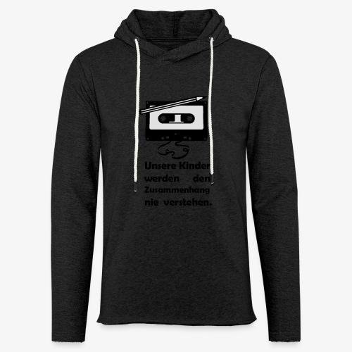 Tape Kassette Musik- Unsere Kinder - Leichtes Kapuzensweatshirt Unisex