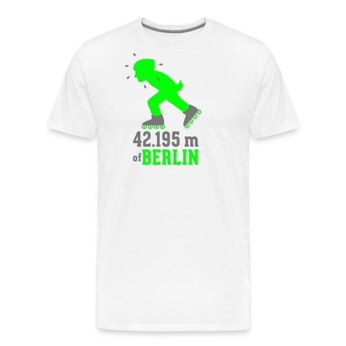 Berliner Inlineskating Marathon 42.195 m - Männer Premium T-Shirt