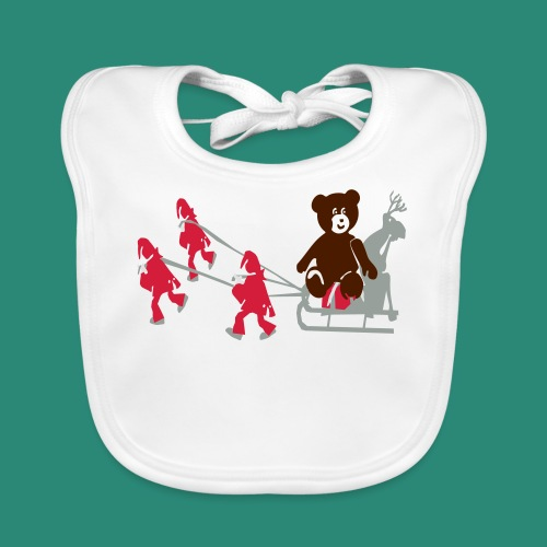 Frauen T-Shirt anthrazit Wichtelzeit - Baby Bio-Lätzchen