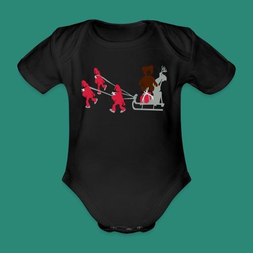 Frauen T-Shirt anthrazit Wichtelzeit - Baby Bio-Kurzarm-Body