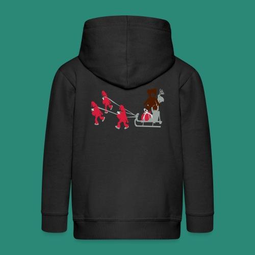 Frauen T-Shirt anthrazit Wichtelzeit - Kinder Premium Kapuzenjacke