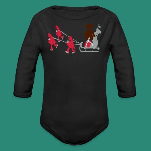 Frauen T-Shirt anthrazit Wichtelzeit - Baby Bio-Langarm-Body