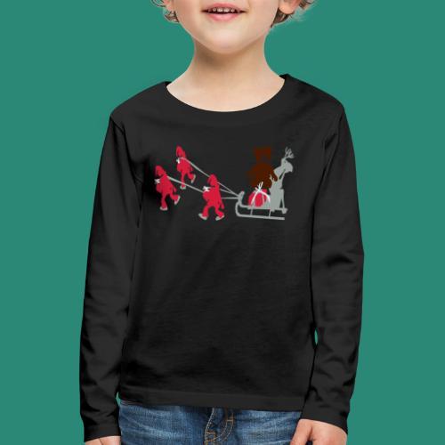 Frauen T-Shirt anthrazit Wichtelzeit - Kinder Premium Langarmshirt