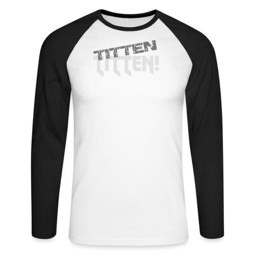 T-Shirt mit V-Ausschnitt - Männer Baseballshirt langarm