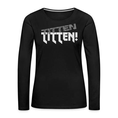 T-Shirt mit V-Ausschnitt - Frauen Premium Langarmshirt