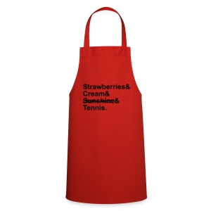 Strawberries and Cream. Ladies V-neck T-shirt. Colour Choice. - Cooking Apron
