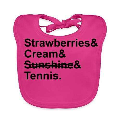 Strawberries and Cream. Ladies V-neck T-shirt. Colour Choice. - Baby Organic Bib