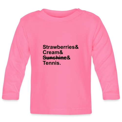 Strawberries and Cream. Ladies V-neck T-shirt. Colour Choice. - Baby Long Sleeve T-Shirt