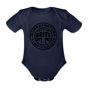 Davis Cup Quarters 2016. Ladies V Neck T. Blue - Organic Short-sleeved Baby Bodysuit