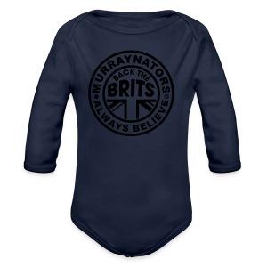 Davis Cup Quarters 2016. Ladies V Neck T. Blue - Organic Longsleeve Baby Bodysuit