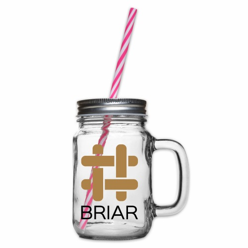 Briar T-Shirt (Female) - Glass jar with handle and screw cap