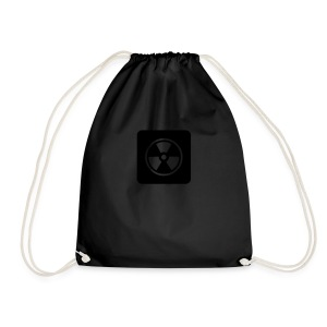 Black Tote bag with Radioactive design - Drawstring Bag