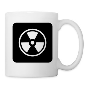 Black Tote bag with Radioactive design - Mug