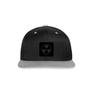 Black Tote bag with Radioactive design - Contrast Snapback Cap