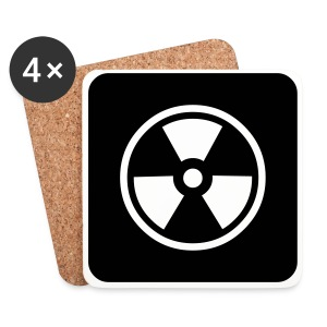 Black Tote bag with Radioactive design - Coasters (set of 4)