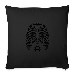 Men's T-shirt black with ribs outline - Sofa pillow cover 44 x 44 cm