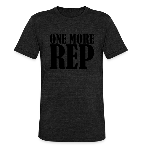 One More Rep - Unisex Tri-Blend T-Shirt von Bella + Canvas