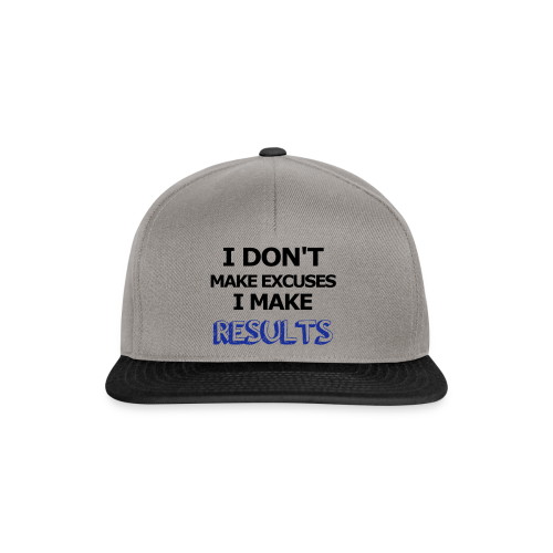 Excuses or Results - Snapback Cap