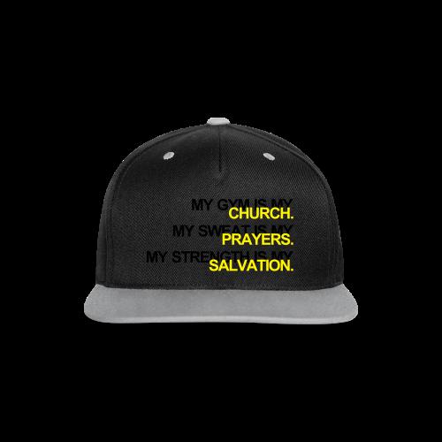 Gym is my Church - Kontrast Snapback Cap