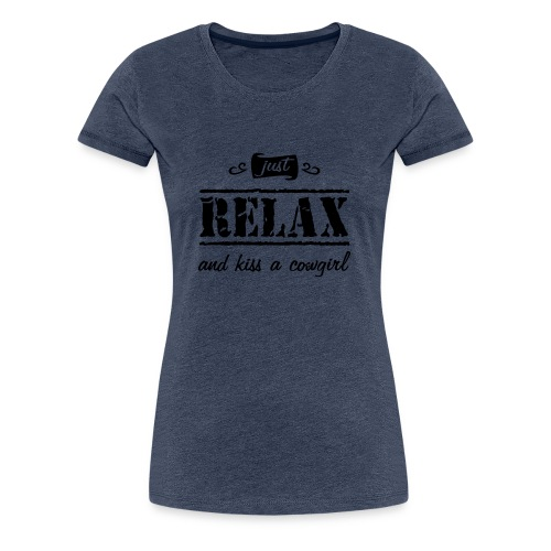 """Spruch """"kiss a """" - Frauen Premium T-Shirt"""