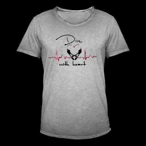 Diver with heart - Männer Vintage T-Shirt
