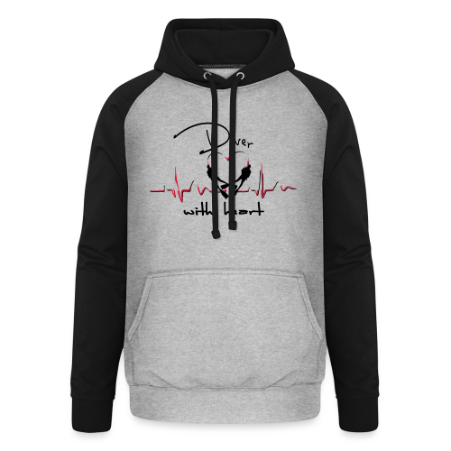 Diver with heart - Unisex Baseball Hoodie