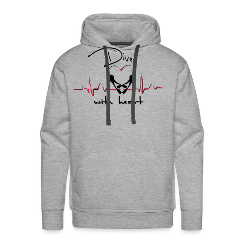 Diver with heart - Männer Premium Hoodie