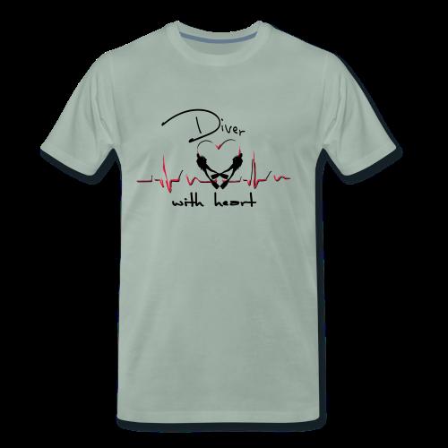 Diver with heart - Männer Premium T-Shirt
