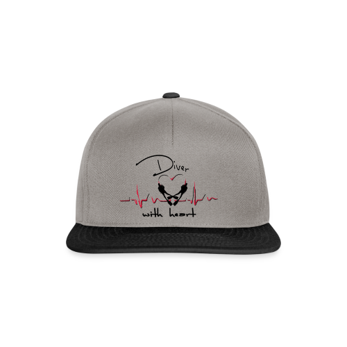 Diver with heart - Snapback Cap