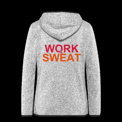Work &  Sweat - Frauen Kapuzen-Fleecejacke