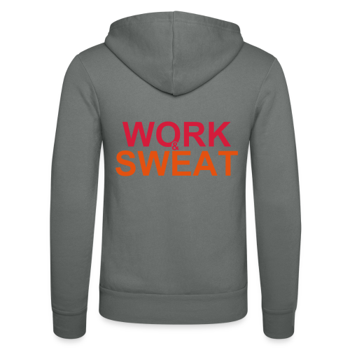 Work &  Sweat - Unisex Kapuzenjacke von Bella + Canvas