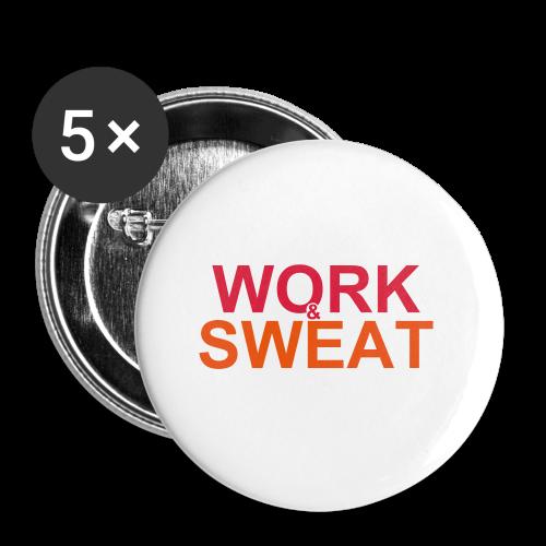 Work &  Sweat - Buttons klein 25 mm (5er Pack)