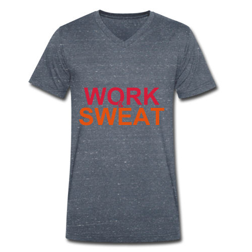 Work &  Sweat - Männer Bio-T-Shirt mit V-Ausschnitt von Stanley & Stella