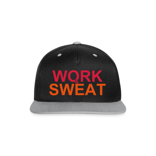 Work &  Sweat - Kontrast Snapback Cap